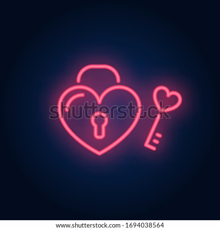 perfect match neon sign heart