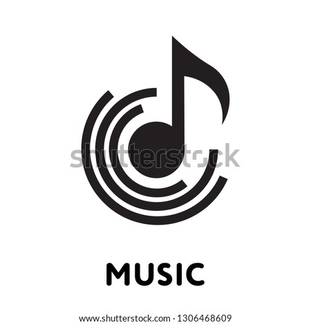 perfect music vector. white background. website and mobil apps.