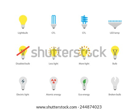 Led Light Icon Set Download Free Vector Art Stock Graphics Images