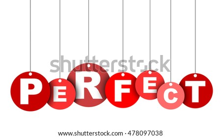 perfect  red vector perfect