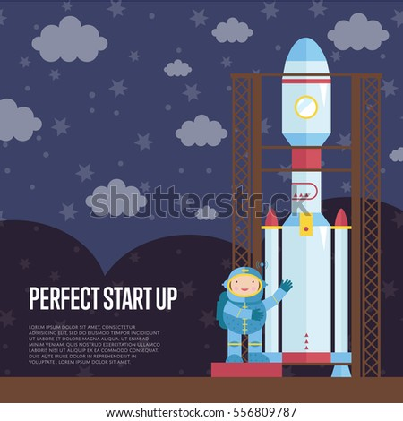 perfect start up cartoon banner
