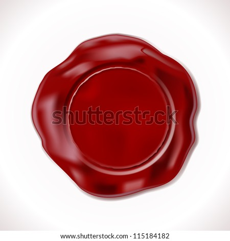 Perfect Wax Seal Isolated on white. Vector Illustration