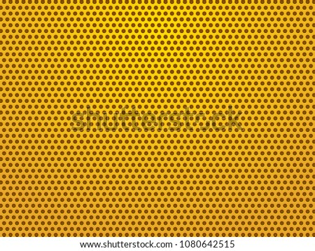 perforated gold sheets background