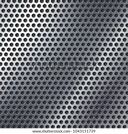 Perforated metal texture.