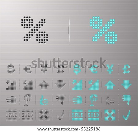 Perforated Money and Banking buttons