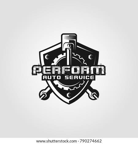 Perform is an Automotive logo with strong shield concept & combining with auto spare part. This can be used by company, auto workshop, expert mechanic, auto service, auto accessories, & many more