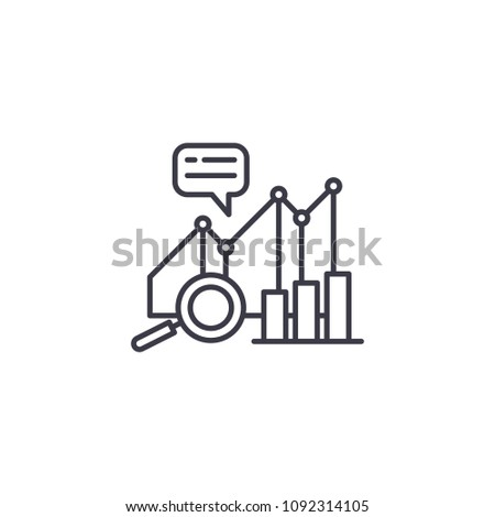 Performance analytics linear icon concept. Performance analytics line vector sign, symbol, illustration.