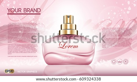 perfume bottle cosmetic ads
