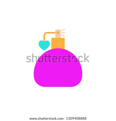 Perfume bottle icon. Element of Valentine day icon for mobile concept and web apps. Detailed Perfume bottle icon can be used for web and mobile