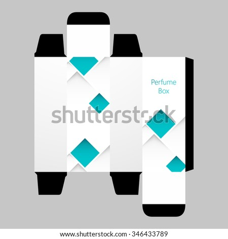 cologne box template - eau free vector 4vector