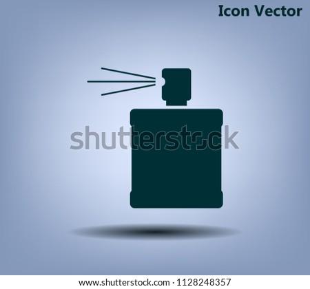 Perfume, eau de toilette, perfumery. Vector icon.