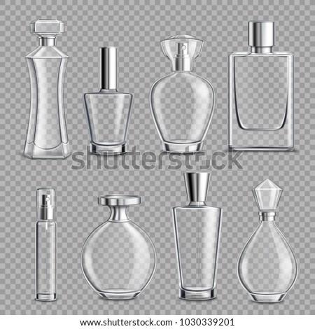 perfume glass bottles various