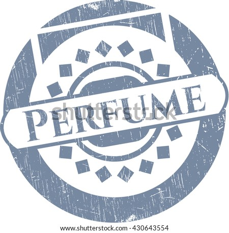 Perfume with rubber seal texture