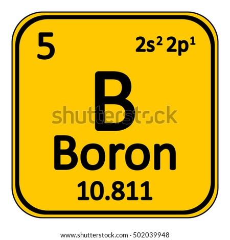 periodic table element boron icon on white background vector illustration