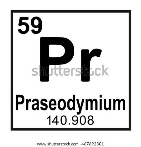 Praseodymium Symbol