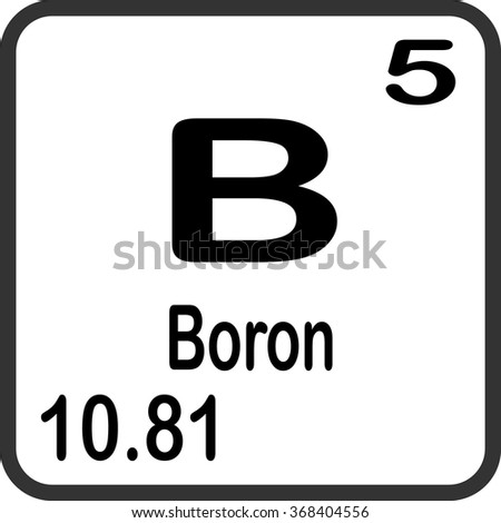 Boron Symbol B Element Of The Periodic Table Zoomed With