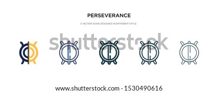 perseverance icon in different style vector illustration. two colored and black perseverance vector icons designed in filled, outline, line and stroke style can be used for web, mobile, ui