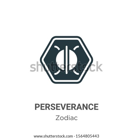 Perseverance vector icon on white background. Flat vector perseverance icon symbol sign from modern zodiac collection for mobile concept and web apps design.