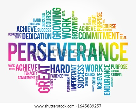 Perseverance word cloud collage, business concept background Сток-фото ©