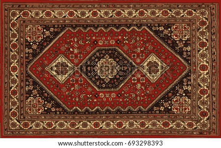 Persian carpet, tribal vector texture