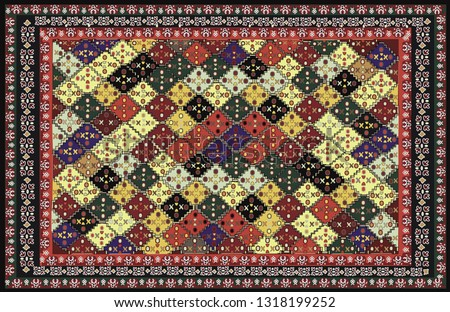 stock-vector-persian-carpet-tribal-vector-texture-easy-to-edit-and-change-a-few-colors-by-swatch-window-of