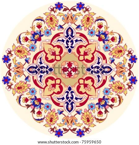 persian round pattern