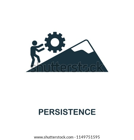 Persistence creative icon. Simple element illustration. Persistence concept symbol design from soft skills collection. Perfect for web design, apps, software, print.