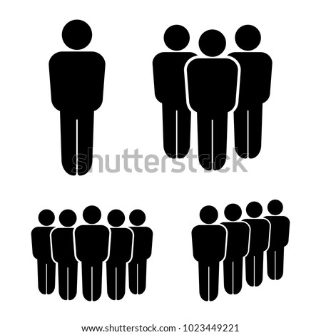 Person And Group People Team Icons Business People Team