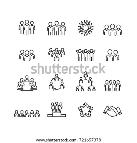 Person and Team icons set,Vector