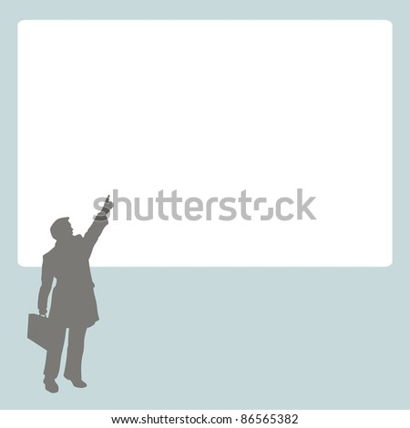 Person at stand