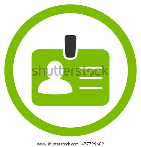 person badge rounded icon