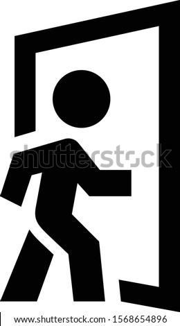 person entering doorway