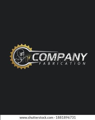 Person Fabrication Electric Welding Company Logo Stock photo ©