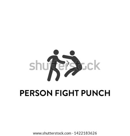 person fight punch icon vector. person fight punch vector graphic illustration