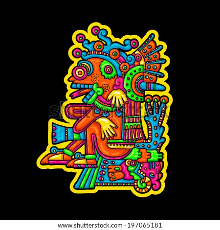 Person Flyuro image of the Maya Maya designs Maya design elements