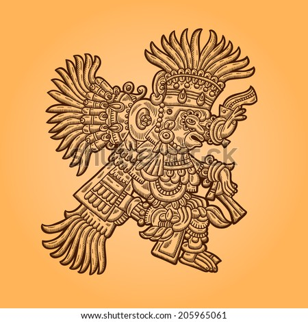 Person Illustration of the Maya object Maya design elements