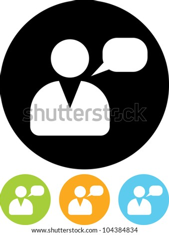 Person speaking - Vector icon isolated