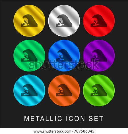 person surfing 9 color metallic