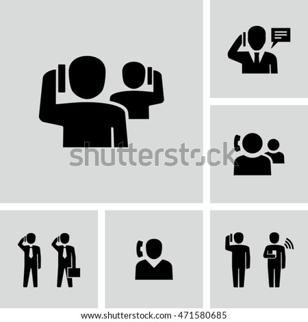 Person Using Mobile Smart Phone Vector Icons