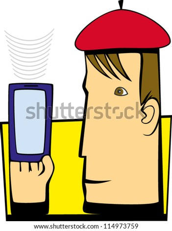 person with phone