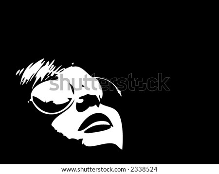 Person with Reflection - stock vector