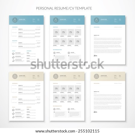 Free Curriculum Vitae Vector Design Download Free Vector Art - Cv-resume-paper