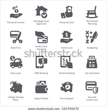 Personal & Business Finance Icons Set 2