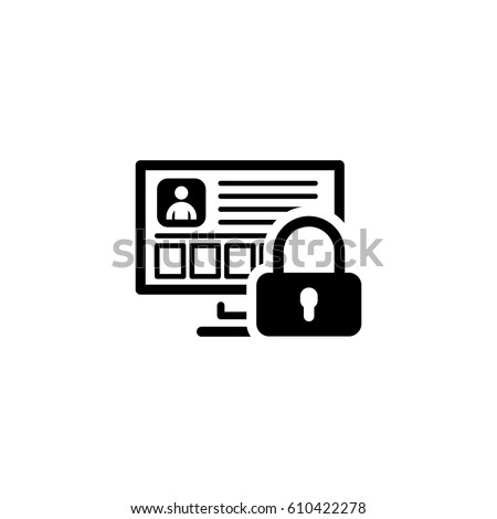 personal data protection icon....