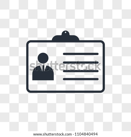 Personal details vector icon isolated on transparent background, Personal details logo concept