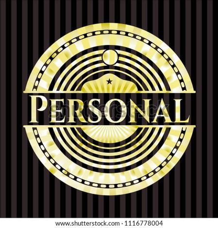 Personal gold emblem or badge