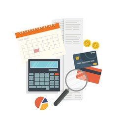 Personal home finance taxes and payments concept