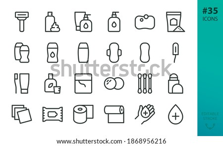 personal hygiene and care icons