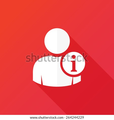 Personal information icon. User information icon. Person info, employee data, account details, contact