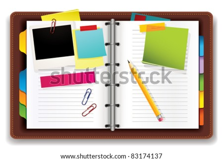 Personal organizer - stock vector